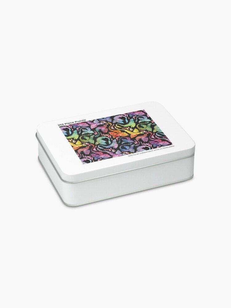 Alternate view of Dragon fire dark rainbow Jigsaw Puzzle
