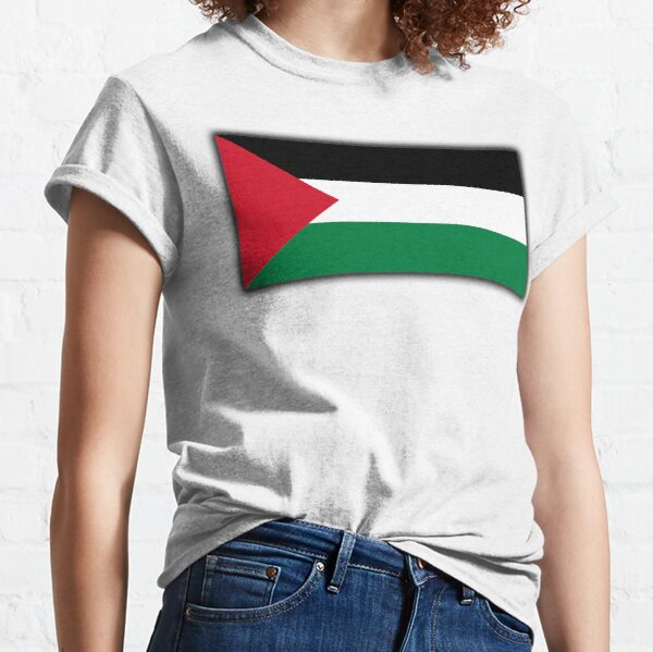 Palestine. Palestinian Flag. Flag of Palestine. Gaza, Middle East. Classic T-Shirt