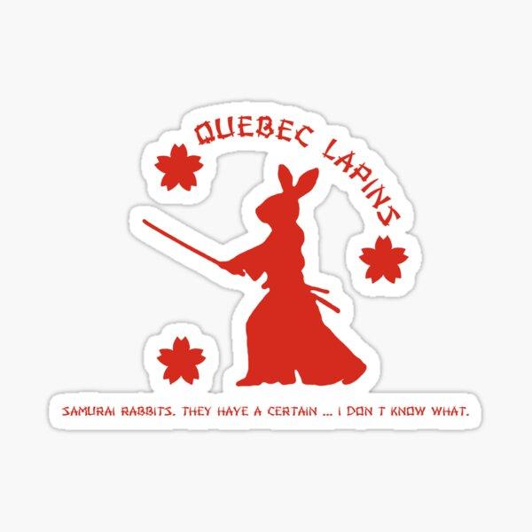 Quebec Lapins Alternate Logo. Sticker