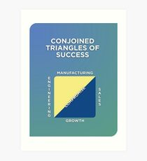 Conjoined Triangles of Success Art Print