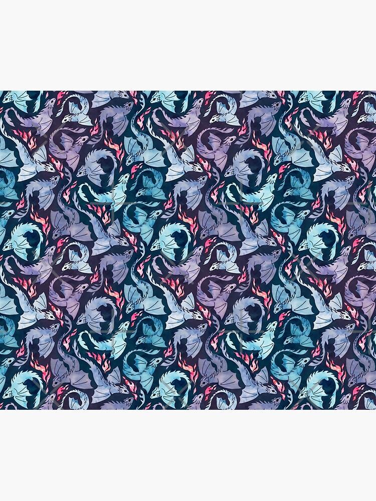 Dragon fire dark turquoise and purple by adenaJ