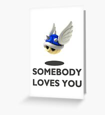 Blue Shell Mario Kart Greeting Card