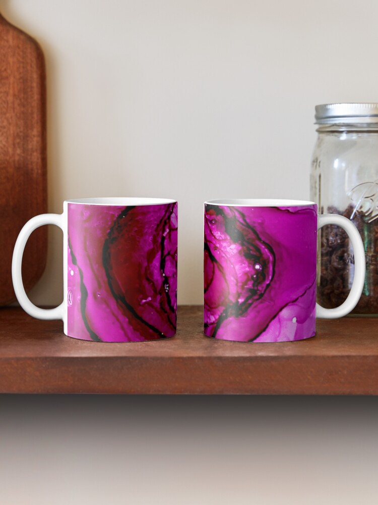 Alternate view of Rose with Alcohol Ink Mug