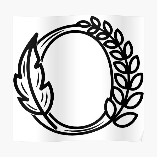 The letter O - Monogram Initials Greek Art Poster
