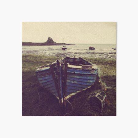 The Blue Coble, Lindisfarne, Northumberland Art Board Print