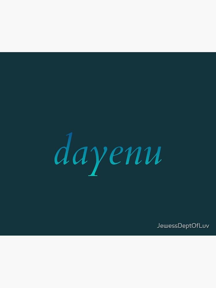 dayenu [blue to teal ombré] by JewessDeptOfLuv