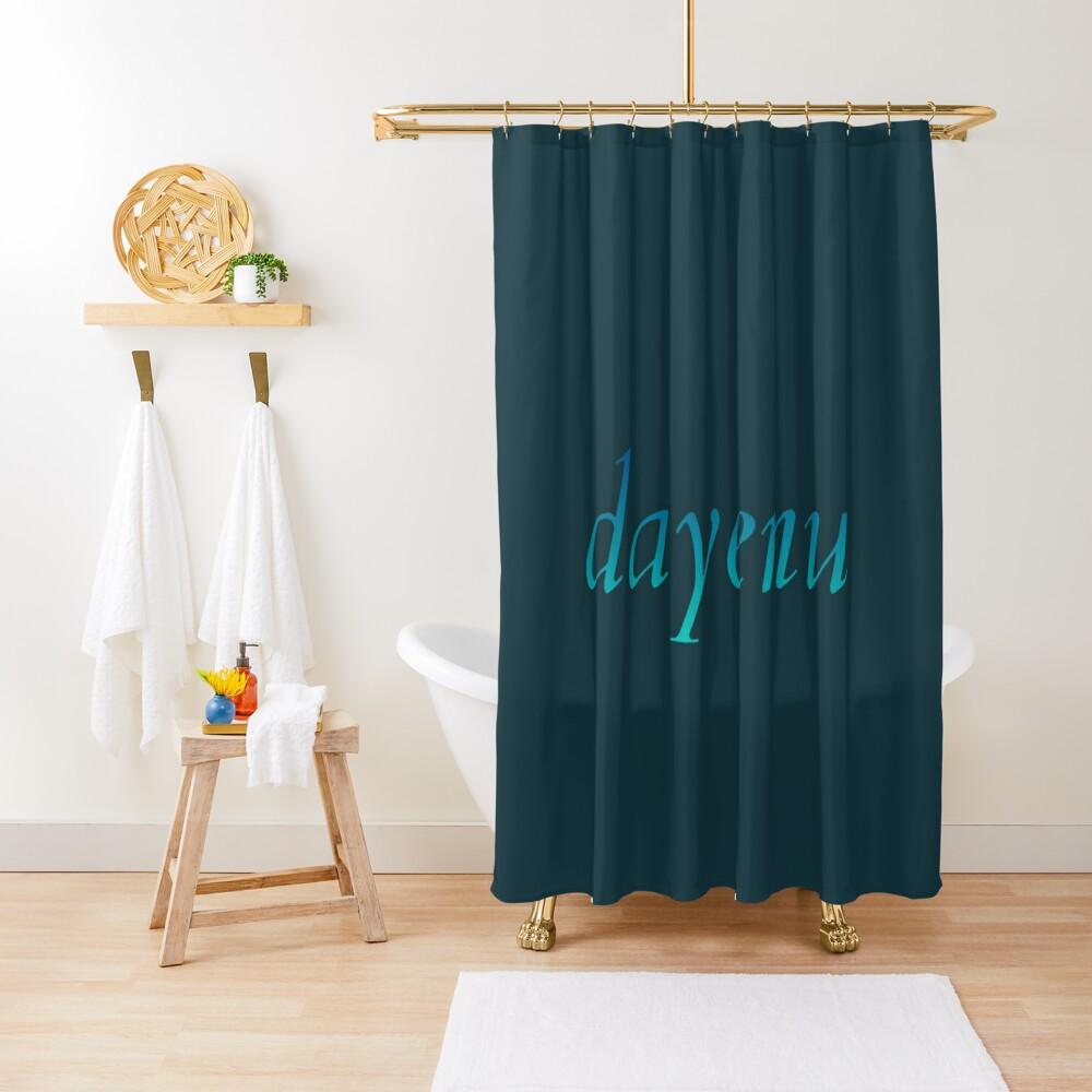 dayenu [blue to teal ombré] Shower Curtain