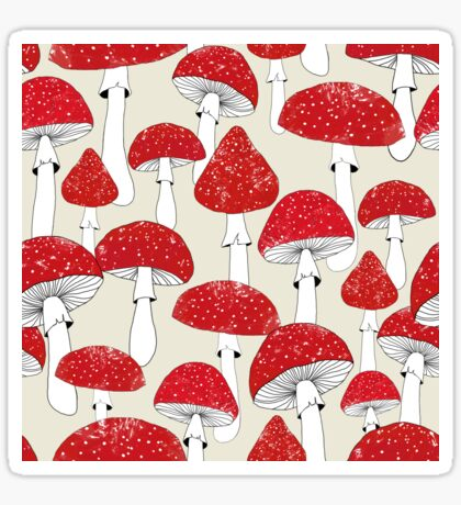 Red mushrooms Sticker
