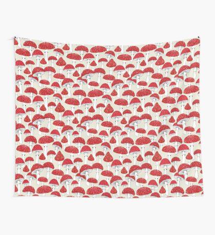 Red mushrooms Wall Tapestry