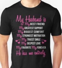 My Husband is My Best Friend Wedding Anniversary Gift For Wife T-Shirt