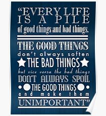 Doctor Who Quote Poster Poster