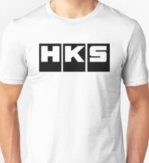 HKS Car Tuning Black Unisex T-Shirt