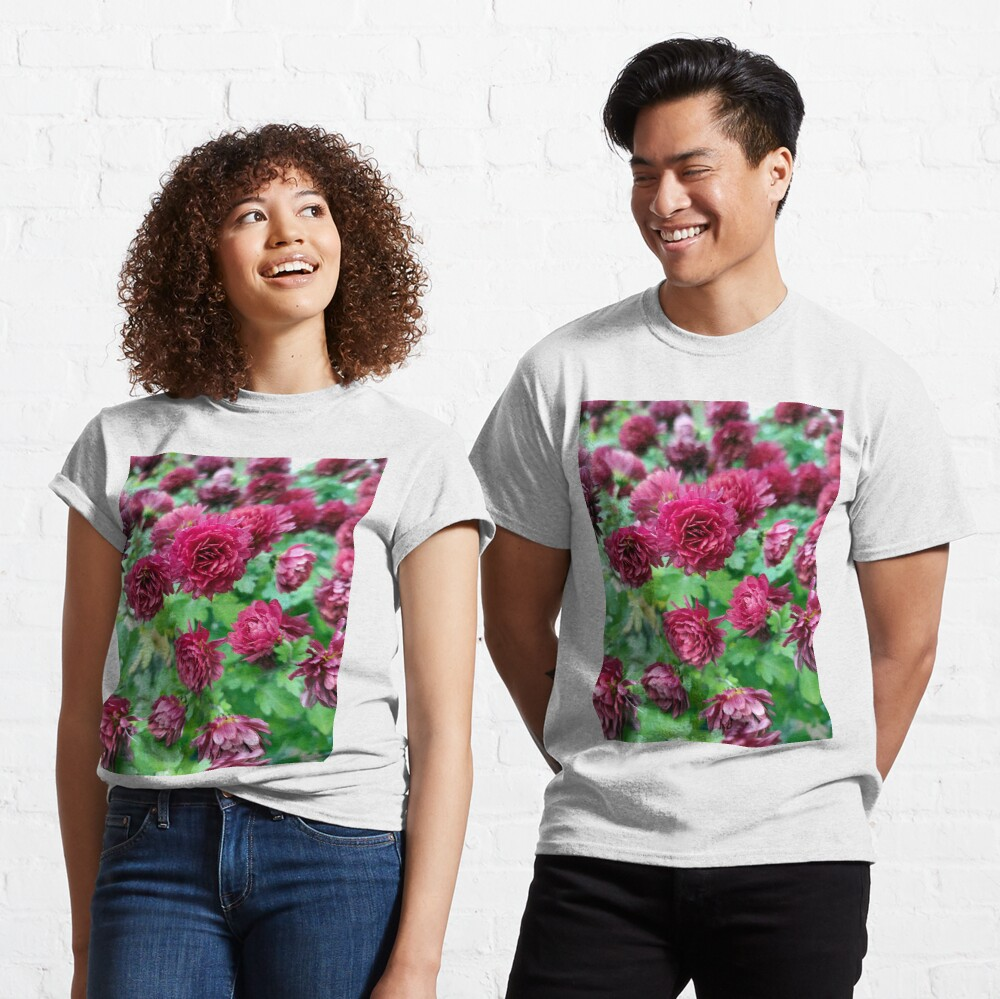 Rote Herbst-Astern Classic T-Shirt