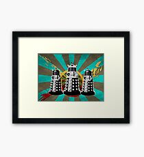 Doctor Who - Retro Daleks Framed Print