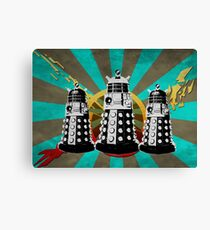 Doctor Who - Retro Daleks Canvas Print