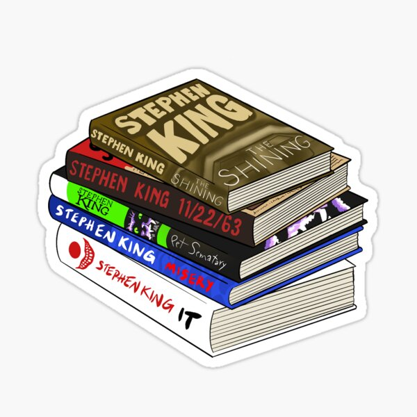 Stephen King Books Sticker