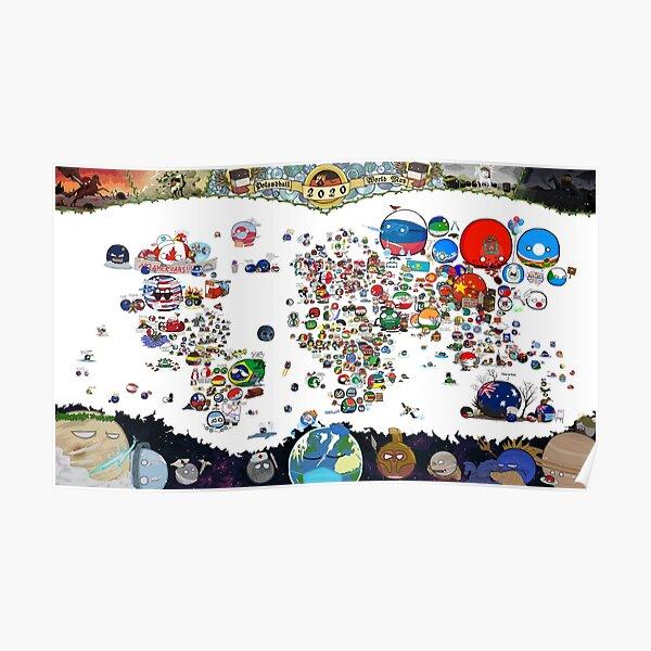 ★ Mapa de Countryballs 2020 ★ Póster