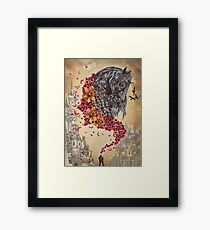 Medieval Armour Horse Design Framed Print
