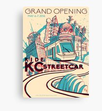 Exclusive EVENT VERSION - KC Streetcar Grand Opening Commemorative Poster Canvas Print
