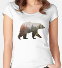 Bear Fitted Scoop T-Shirt