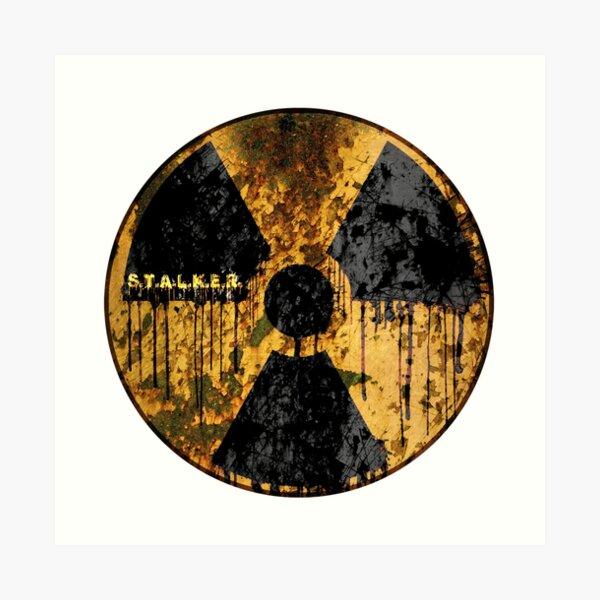 Stalker Radiation Symbol Art Print
