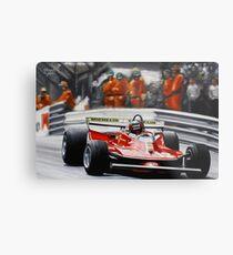 Gilles Villeneuve, Ferrari 312T4 Metal Print