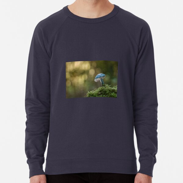Blue roundhead mushroom Lightweight Sweatshirt