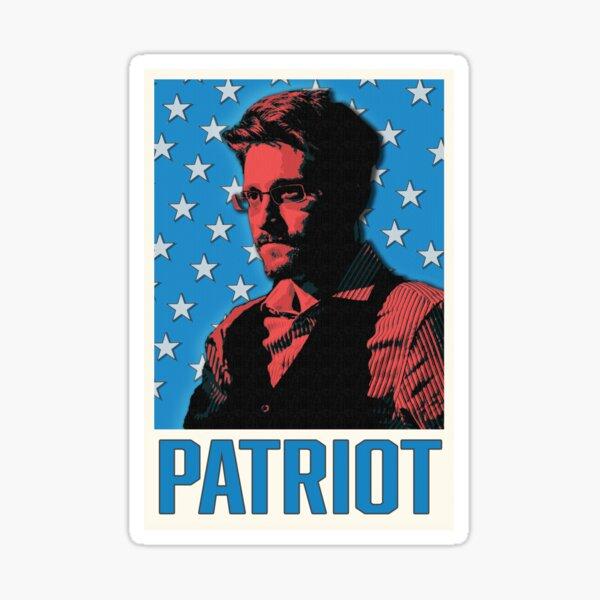 Edward Snowden Patriota Pegatina