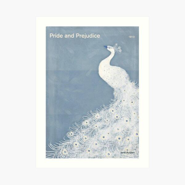 Pride and Prejudice, Jane Austen Literary Art for Book Lovers Art Print