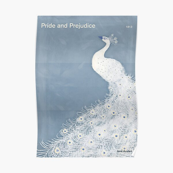 Pride and Prejudice, Jane Austen Literary Art for Book Lovers Poster