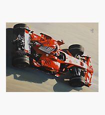 Kimi Raikkonen, Ferrari F2008 Photographic Print