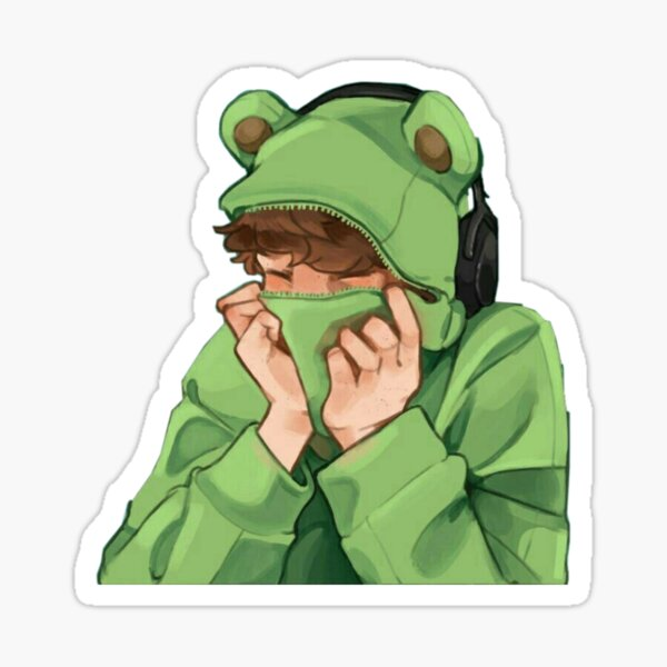 karl jacobs frog t-shirt Sticker