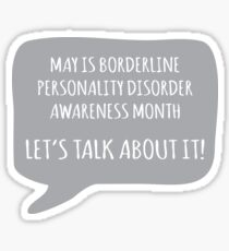 BPD Awareness - Grey Sticker