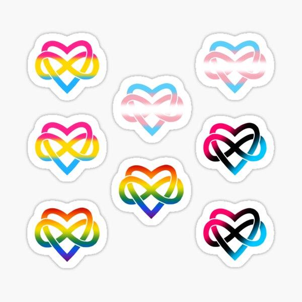 8x Polyamory Infinity Heart Set #3 Sticker
