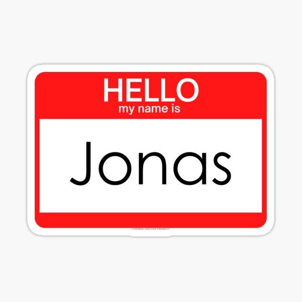 My Name Is Jonas Name Tag Sticker