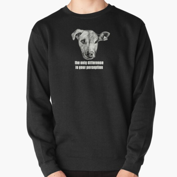 The Only Difference Is Your Perception - Dog / Cow Pullover Sweatshirt
