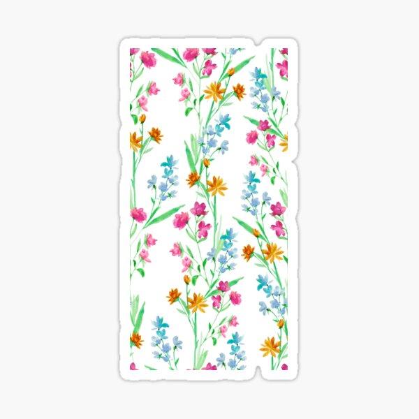 Vertical Watercolor Floral Print Sticker