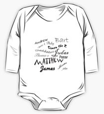 Jesus and apostle Autographs One Piece - Long Sleeve
