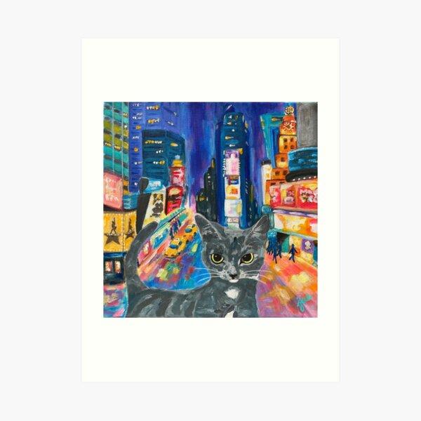 City Kitty-NEW YORK CITY Art Print