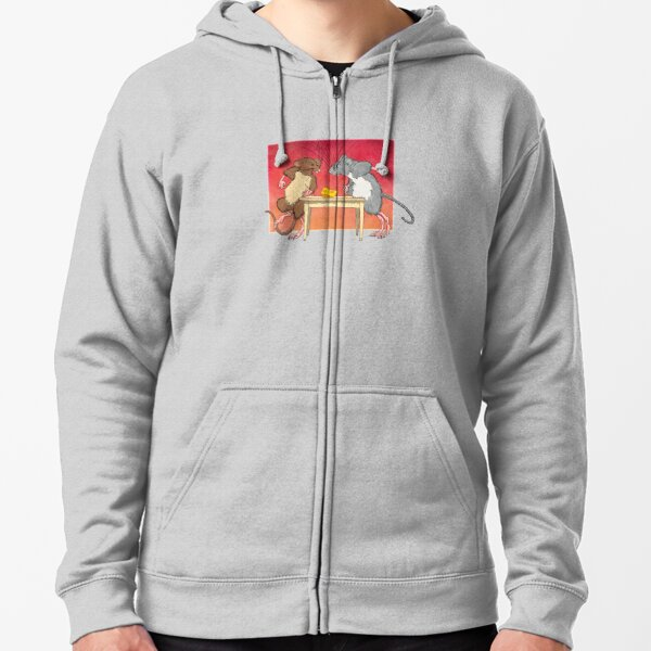 Politics as Usual or You Moved My Cheese Zipped Hoodie