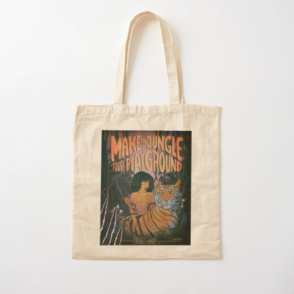 MAKE THE JUNGLE YOUR PLAYGROUND Cotton Tote Bag
