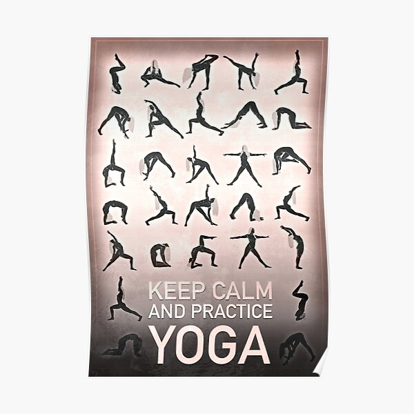 KEEP COOL AND PRACTICE YOGA Poster