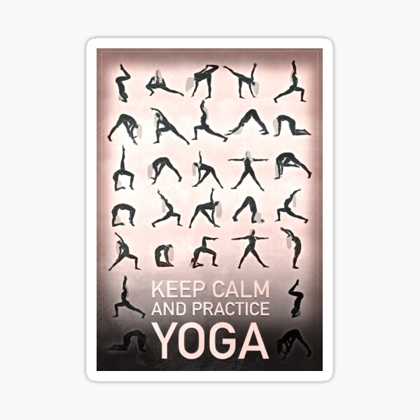 KEEP COOL AND PRACTICE YOGA Sticker