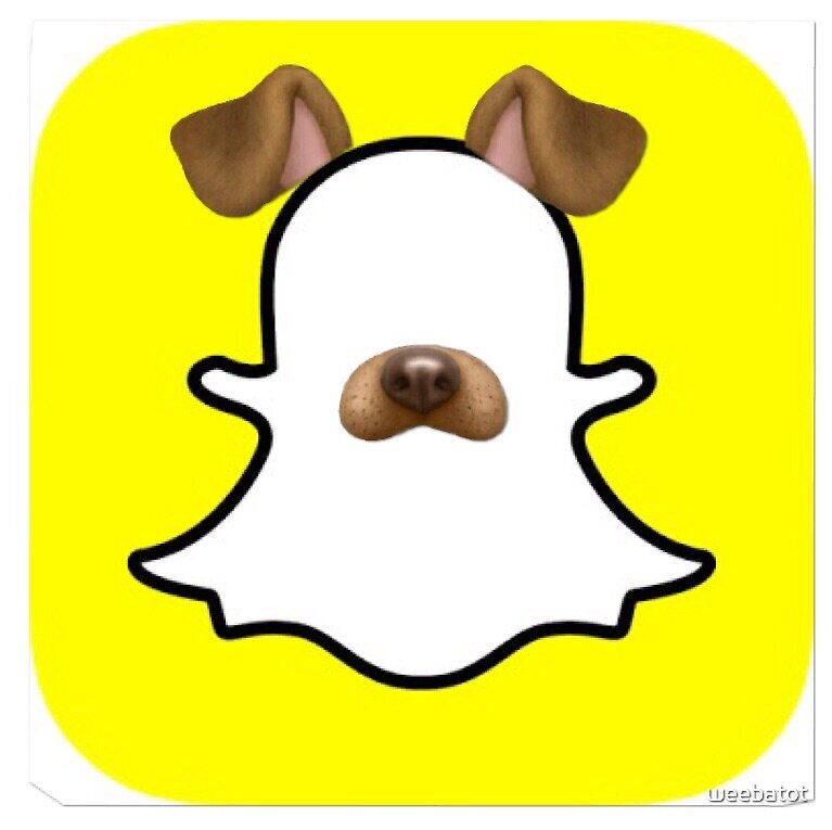 Image result for snapchat logo with dog filter