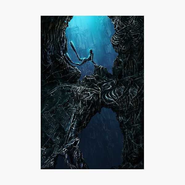 free diver giger Photographic Print