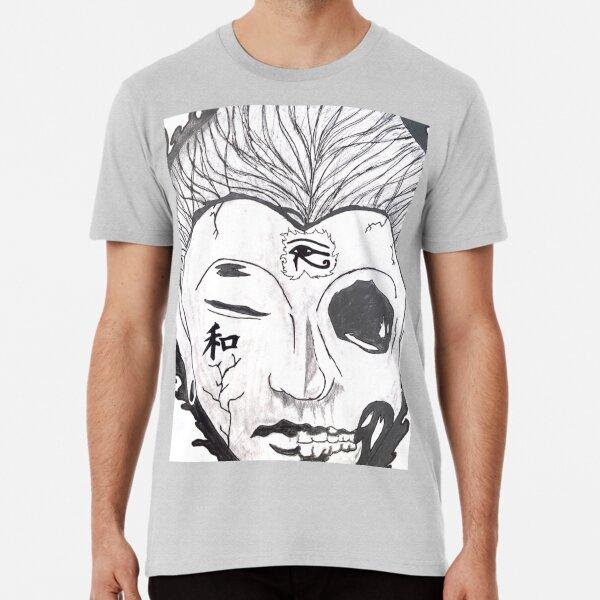 Gothic,Goth Spiral Blind Faith Men/'s White Skull T-Shirt