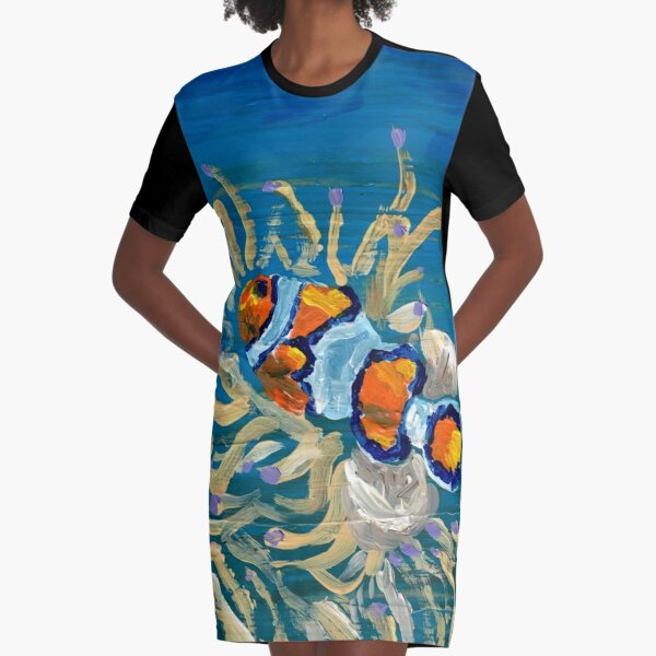 """Clownfish and Friends"" Graphic T-Shirt Dress"