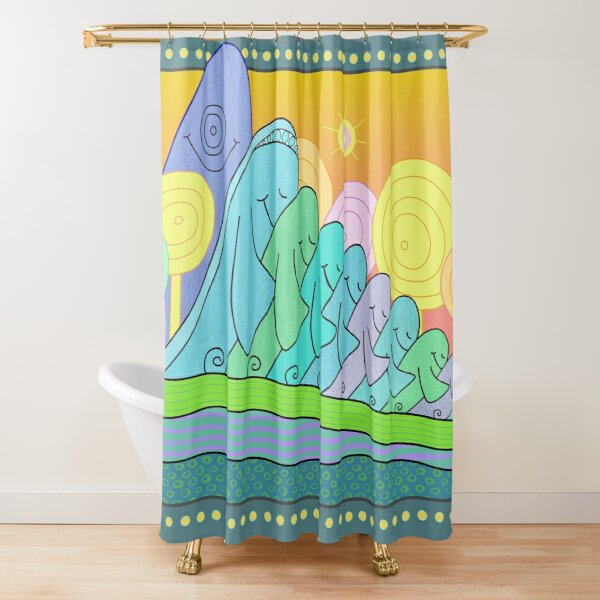 Family Constellations Shower Curtain