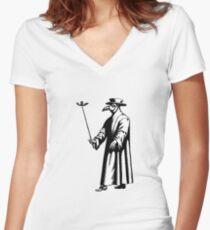 Doc beak - Plague doctor / Dr. Schnabel - Pestarzt Women's Fitted V-Neck T-Shirt