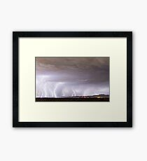 Lightning Thunderstorm Extreme Weather Over Golden Colorado Framed Print
